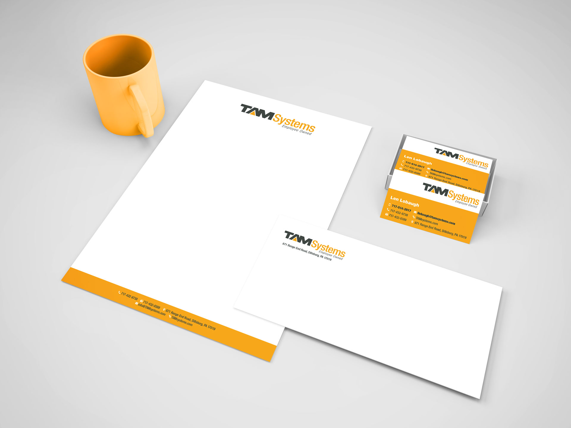 TAM Systems Stationery image