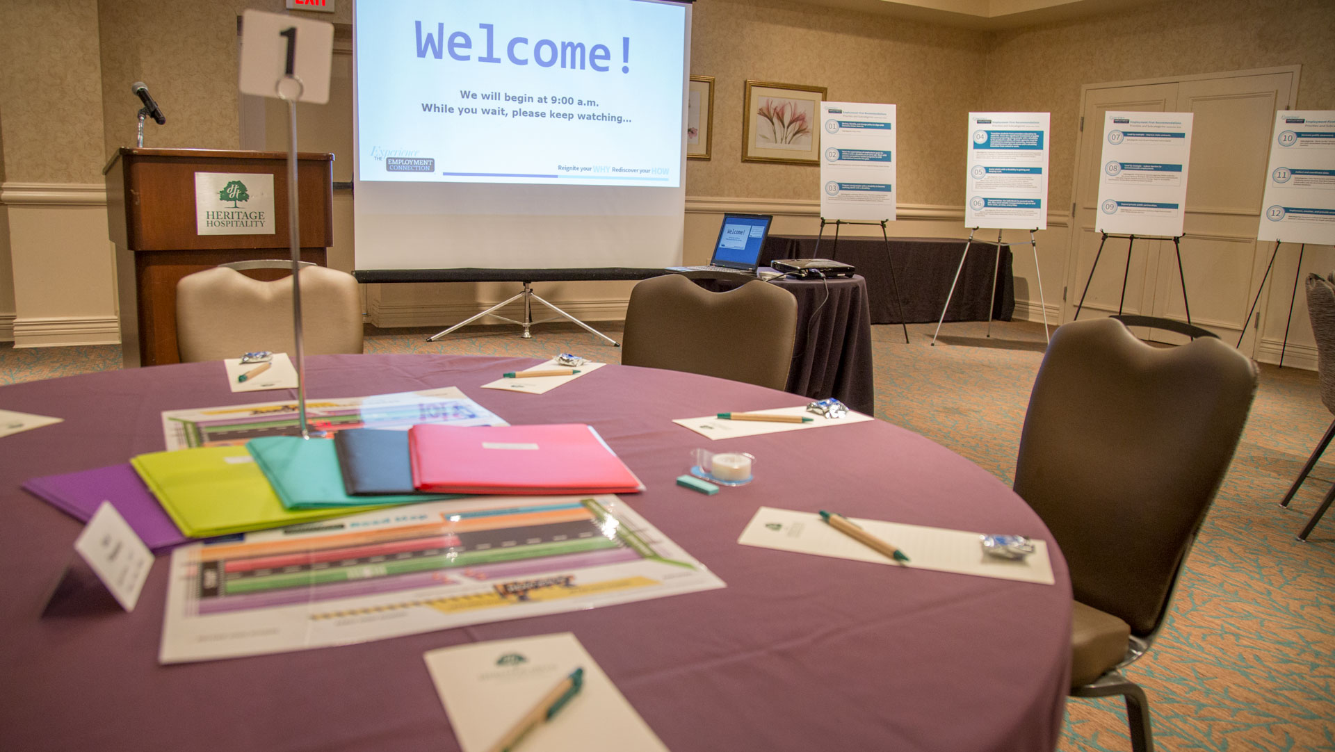 Suasion Experience The Employment Connection Materials - Conference table signs